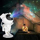 3D Astronaut Sternenhimmel Projektor Nacht Atmosphäre Licht Astronaut Nachtlicht Kreative Astronaut Geburtstagsgeschenk Freundin Freund Kind Astronaut LED Sternenhimmel Projektor(Weiß)