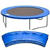 Cliselda Federabdeckung für Trampolin, Ø 305 cm Randabdeckung, Randschutz, Sicherheitsmatte, UV-resistent, reißfestes,6 Stangen - Blau