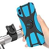 SYOSIN Fahrrad Handyhalterung, Universal Abnehmbare Motorrad Handyhalterung Fahrrad Anti-Shake Fahrradhalterung Mit 360 Drehen für 4,0-6,5 Zoll Smartphone