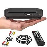Ceihoit DVD-Player für TV Mini HD DVD CD Player mit 1080P Upscaling, HDMI/AV-Ausgang, Alle Regionen frei integriertes PAL/NTSC-System, USB-Eingang