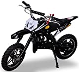Kinder Mini Crossbike Delta 49 cc 2-takt Dirt Bike Dirtbike Pocket Cross (Schwarz)