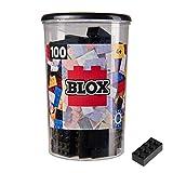 Simba 104118916, Blox, 100 schwarze Bausteine für Kinder ab 3 Jahren, 8er Steine, inklusive Dose, hohe Qualität, vollkompatibel mit vielen anderen Herstellern