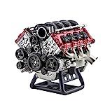 IPOT Motormodell Bausatz, RC Simulationsdynamik V8-Motor Verbrennungs Motor-DIY-Montagemodell für AX90104 SCX10? Capra VS4-10 Pro/Ultra Modellauto