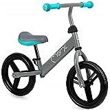MOMI NASH Kinder-Laufrad, Ultraleicht 2,5 kg, Nicht durchbohrbare Räder, Verstellbarer Sitz und Räder, bis zu 25 kg, 12' Räder