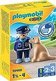 PLAYMOBIL 1.2.3 70408 Polizist mit Hund, Ab 1,5 bis 4 Jahre