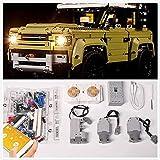 YIERSAN Motor und Fernbedienung + LED-Beleuchtungs-Set, Set für Lego 42110 Technic Land Rover DefenderKompatibel mit Lego Land Rover (Lego Set nicht enthalten)