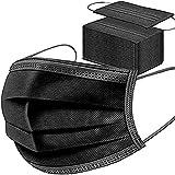 SYMTEX 100 Stück Schwarze Medizinisch Chirurgische Masken Type IIR Norm EN 14683 zertifizierte CE Mundschutzmasken OP Maske 3-lagig Mundschutz Gesichtsmaske Einwegmaske mund und nasenschutz