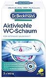 Dr. Beckmann Aktivkohle Wc-Schaum, Selbstaktivierender Schaum (3 x 100 g)