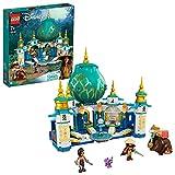 LEGO 43181 Disney Princess Raya und der Herzpalast Spielset, Schloss Spielzeug mit Namaari Minipuppe, Tuk Tuk und Serlot Figuren