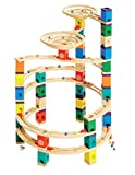 Hape E6008 - The Cyclone, Quadrilla Kugelbahn, Konstruktionsspielzeug, großes und vielfältiges Set, 198 teilig, aus Holz, ab 4 Jahren, mehrfarbig