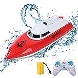 ERollDeep RC-Boot, Ferngesteuertes Boot für Schwimmbäder und Seen 2,4 GHz 10KM/H Hochgeschwindigkeits-Funkelektrisches Rennboot für Kinder Erwachsene Jungen Mädchen