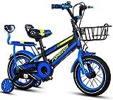 Fahrräder Kinder-Fahrrad-Jungen-Mädchen Indoor Heimtrainer Outdoor Kids Park Fahrrad 3-15 Jahre alt Kinder-Fahrrad Kinder Tricycle (Farbe: Blau, Größe: 20inch) lalay ( Color : Blue , Size : 20inch )
