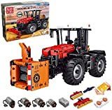 KEAYO Technik Traktor Ferngesteuert, Mould King 17020, 4-in-1 Traktor Modell Groß Klemmbausteine Bausatz Kompatibel mit Lego Technic