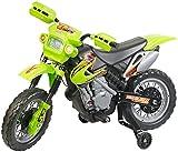 Playtastic Kindermotorrad: Kinder-Elektromotorrad mit Stützrädern, Licht- & Sound-Effekte, 3 km/h (Kinder Elektro Motorrad)