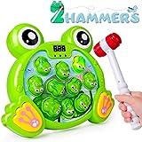 Rolimate Interaktives Spiel Hammerspiel Spielzeug, Whack A Frog Feinmotorik, Entwicklung Pädagogisches Montessori Spielzeug für Jungen Mädchen, 3 4 5 6 7 8 Jahre (Deutsche, Aktualisierte Version)