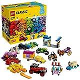 LEGO 10715 Classic Kreativ-Bauset Fahrzeuge, Bunte Bausteine, Bauspielset mit Reifen und Rädern (422 Teile)