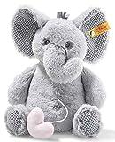 Steiff Ellie Elefant Spieluhr - 26 cm - Kuscheltier für Babys - Plüschelefant - weich - hellgrau - (241765)