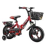 WYYY Tragbares Kinderfahrrad für Mädchen und Jungen BMX Faltrad von 3-12 Jahren 12 Zoll / 14 Zoll / 16 Zoll / 18 Zoll / 20 Zoll DREI Farben erhältlich(Size:20in,Color:rot)