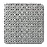 Celawork Große Bauplatte Kompatibel mit Duplo Platten,große Grundplatte,38*38cm Platten-Set für Kreatives Spielen, Lernspielzeug (Grau)