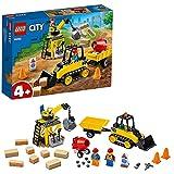 LEGO 60252 Bagger auf der Baustelle, Kinderspielzeug für Kinder ab 4 Jahre, Spielzeug Set aus Baufahrzeugen mit Kran und Bagger