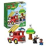 LEGO 10901 DUPLO Feuerwehrauto, Feuerwehr Spielzeug für Kleinkinder im Alter von 2 - 5 Jahren mit Licht & Geräuschen