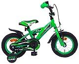 Amigo BMX Turbo - Kinderfahrrad für Jungen - 12 Zoll - mit Handbremse, Rücktritt, Lenkerpolster und Stützräder - ab 3-4 Jahre - Grün