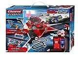Carrera GO!!! Build 'n Race Rennstrecken Set für Kinder ab 6 Jahren & Erwachsene I 6,2m Rennbahn mit 2 Handreglern & Sprungschanze I kompatibel mit anderen Baustein-Herstellern I Geschenk für Kinder