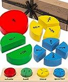 Jaques of London Brüche Puzzle Brett   Spiele und Spielzeug   Montessori Spielzeug   Holzspielzeug   Spielzeug ab 3 4 5 6 Jahre   Kinder Spielzeug Jungen   Since 1795