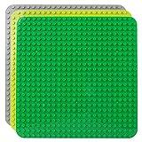 Celawork Große Bauplatte Kompatibel mit Duplo Platten,Große Grundplatte,38*38cm Platten-Set für Kreatives Spielen, Lernspielzeug