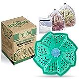 Vegan Öko Waschball [Inkl. 3 Wäschenetze] mit verbesserter Wirkung für die Waschmaschine - Waschen ohne Waschmittel - Laborgeprüft & BPA-frei - Waschkugel Ideal für Allergiker und Babys