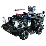 BGOOD Militär Waffen Spielzeug, 492 Stücke Militär Amphibisches gepanzertes Fahrzeug mit Militärspielzeug Waffe und Minifiguren, Polizei Swat Auto Bausteine Kompatibel mit Lego