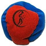 Profi Hacky Sack 2 Paneelen (Blau/Rot) Pro Freestyle Footbag! Hacky Sacks für Anfänger, ideal für Stände, Fänge, Verzögerungen u. Tritte!