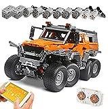 KEAYO Technik Ferngesteuert Offroader 8x8, Mould King 13088, Technik Groß Geländewagen Modell mit Motors, MOC Klemmbausteine Bauset Kompatibel mit Lego Technic