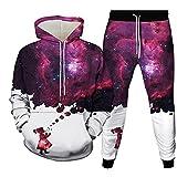 Herren Jogginghose Langarm Sweatshirt Casual 2 Stück Hip Hop Pullover Und Hose Set Unisex Anime Kostüm 3D Gedruckter Hoodie Atmungsaktiv