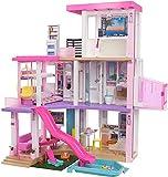Barbie GRG93 - Traumvilla, dreistöckiges Puppenhaus (114cm) mit Pool, Rutsche, Aufzug, Lichtern und Geräuschen, ab 3 Jahren