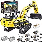 Technic Bagger Bausatz, 2,4 GHz Elektrische APP + RC-gesteuerter Bagger Spielzeug Ziegel, 2068 Stück Baufahrzeuge Baustein Kompatibel mit LegoTechnic