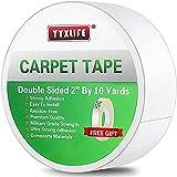 YYXLIFE Teppichbänder Doppelseitiges Klebeband für Teppiche Teppichkleber-Teppichgreifer Abnehmbares Mehrzweck-Teppichbandtuch für Hartholzböden, Teppiche Hochleistungsklebeband, 2 Zoll x 10 Yards