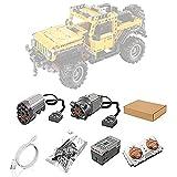 VSEG Motoren und Fernbedienung Set für Lego 42122 Technic Jeep Wrangler 4x4 Geländewagen, Upgrade Zubehör für Lego Technik 42122 (Nicht Enthalten Lego Modell)