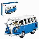 Sugeren Classic Bus Modell für T1 Camper Van, Pull Back Bus Spielzeug für Kinder, Retro Bus Bausatz, 707Pcs Klemmbausteine Kompatibel mit Lego Creator 10220
