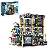 Modulare Hausbausätze, 3-Schichten Polizeistation Europäische Architektur, 3111 Stück MOC DIY Architektur Modellhaus Bausätze, Stadtstraßenansicht Bausteine Kompatibel mit Lego