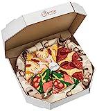 Rainbow Socks - Damen Herren Pizza Socks Box Mix Italienische Hawaii Pepperoni - 4 Paar - Gr.- EU 41-46/ Large
