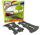 PAUL Schiene für Lego Duplo Eisenbahn , Auffahrschiene, Abfahrscheine Sonderschiene, Zentrierhilfe, passend zu Lego Duplo Zugset 10506, 10508, 10874, 10875