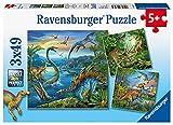 Ravensburger Kinderpuzzle - 09317 Faszination Dinosaurier - Puzzle für Kinder ab 5 Jahren, mit 3x49 Teilen