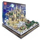 Mould King 22004 Bausteine Architektur Modell 6862 Klemmbausteine Architektur Baustein Modell Schloss Hogwarts Custom Bauspiel, Modular Building Konstruktionsspielzeug Kompatibel mit Lego Zauberschule