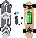 Caroma 77cm Elektro Skateboard mit Drahtloser Bluetooth Fernbedienung für Erwachsene und Jugendliche, 20 km/h Höchstgeschwindigkeit, 350 W Motor (Schwarz)
