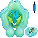 Baby Aufblasbarer Schwimmring,Baby Schwimmhilfe mit Dual Airbag,Baby Schwimmen Ring mit Sicherheitsgurt und Schwimmsitz für Kinder(3 Monate-12 Monate,Blau)