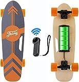 Caroma 77 cm Elektro Skateboard mit Drahtloser Bluetooth Fernbedienung für Erwachsene und Jugendliche, 20 km/h Höchstgeschwindigkeit, 350 W Motor (Orange)
