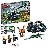 LEGO 75940 Jurassic World Ausbruch von Gallimimus und Pteranodon, Dinosaurier Spielzeug für Kinder ab 7 Jahren mit Figuren