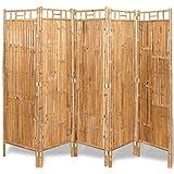 vidaXL 5-Fach Bambus Raumteiler Paravent Trennwand Sichtschutzwand 200x160 cm