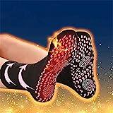 NMSLCNM Beheizte Socken, Turmalin Magnetsocken, Selbstheizende Winter Warme Socken Fußwärmer für Damen Herren, Massage, Fußheizung, Anti-Müdigkeit,Gesundheitssocken,Outdoor Sport,Camping (Black)